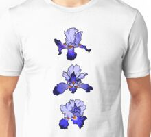 Graphic Iris -  Blues and Purples Unisex T-Shirt