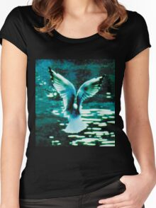 Wings over water Women's Fitted Scoop T-Shirt