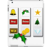 Playing Slot Machine in Christmas! iPad Case/Skin