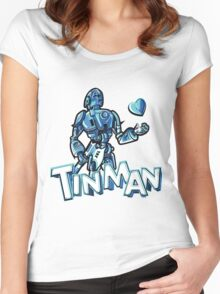 """Tin Man"" By Dreamscape Colony Women's Fitted Scoop T-Shirt"
