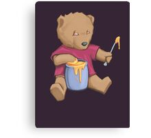 Oil Bear (No Text) Canvas Print