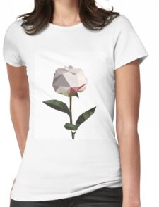 Beautiful flower low poly print Womens Fitted T-Shirt