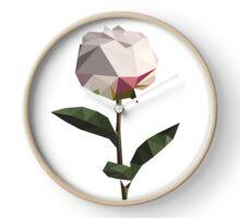 Beautiful flower low poly print Clock