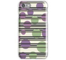 Elegant purple and green pattern iPhone Case/Skin