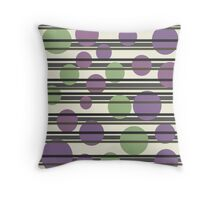 Elegant purple and green pattern Throw Pillow