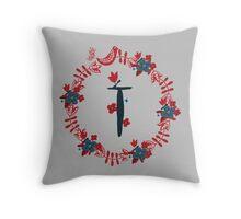 Scandinavian Monogram T Throw Pillow