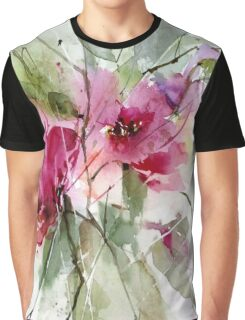 Roses impression Graphic T-Shirt