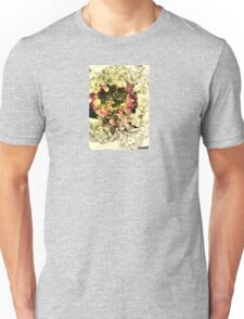 white/red/petals Unisex T-Shirt