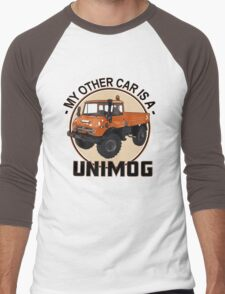 My other car is a Unimog - Orange Men's Baseball ¾ T-Shirt