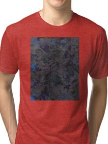 Abstract Grey Topography Tri-blend T-Shirt
