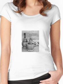 bottle of wine Women's Fitted Scoop T-Shirt