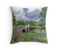 Swaledale Packhorse Bridge Throw Pillow