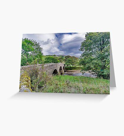 Swaledale Packhorse Bridge Greeting Card