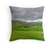 Yorkshire Dales View Throw Pillow