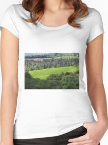 hilly landscape Women's Fitted Scoop T-Shirt