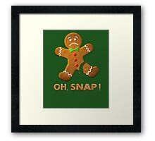 Oh Snap Gingerbread Man Funny Christmas Framed Print
