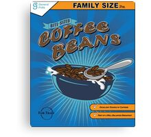 Bite Sized Coffee Beans Cereal Canvas Print