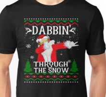 Dabbing Through The Snow Funny Santa Claus Unisex T-Shirt