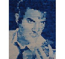 Pixelated Blue Elvis Painting Photographic Print