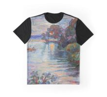 SUNSET ON THE LAKE Graphic T-Shirt