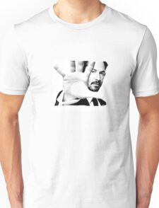 Keanu Reeves (Black and White Silent Attitude) Unisex T-Shirt