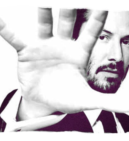 Keanu Reeves (Black and White Silent Attitude) Sticker