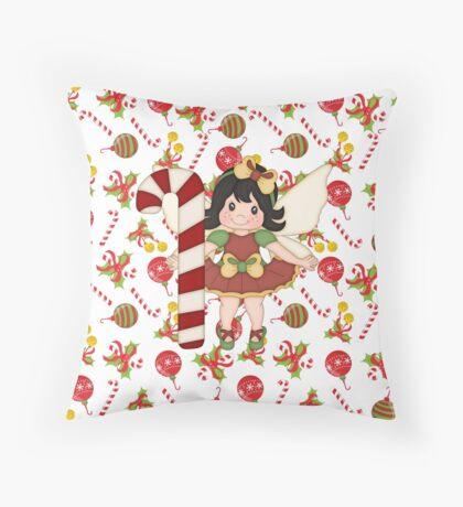 Christmas Elf Fairy Throw Pillow