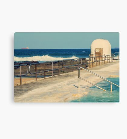 Merewether Pumphouse and Ocean Baths  Canvas Print