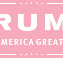 Preppy Pink Trump Make America Great Sticker