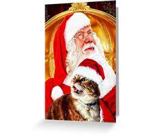Santa and Leo Greeting Card