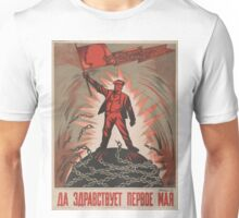 Soviet Poster 'Long live the first of May' Unisex T-Shirt