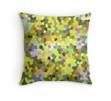 Forest abstract mosaic Throw Pillow