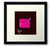 Pink square  Framed Print