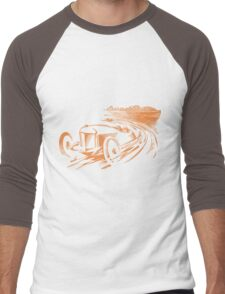 Vintage Racecar - Antique Brown Men's Baseball ¾ T-Shirt