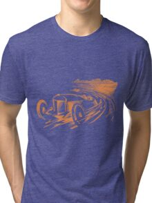Vintage Racecar - Antique Brown Tri-blend T-Shirt
