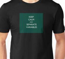 Calculus Keep Calm Message Unisex T-Shirt