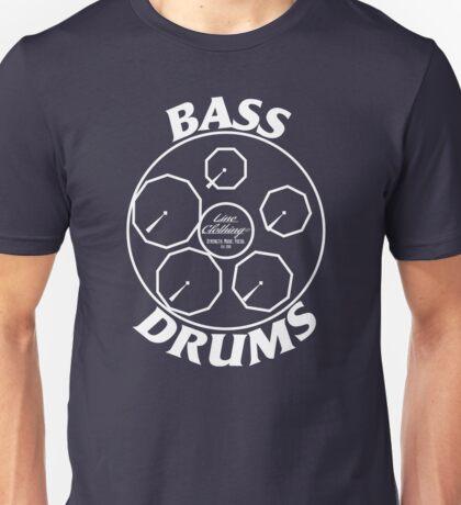 BASS DRUMS Design (white) Unisex T-Shirt