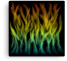 Flames Gradient - Blue | Cyan | Yellow | Orange | Red | Black Canvas Print
