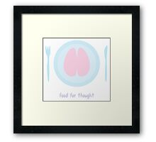 Zombie - Food for thought Framed Print