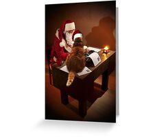 Santa's Supurrvisor Greeting Card