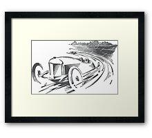 Vintage Racecar / Roadster (black) Framed Print