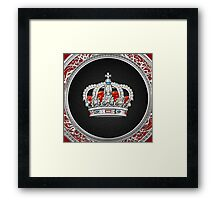 Prince-Princess King-Queen Crown [Silver]  Framed Print