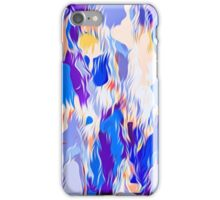 blue purple pink orange and red painting abstract background iPhone Case/Skin