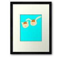 Smooth shapes! : Nyami and Mimi Framed Print