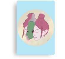 I Believe Alien Inside Canvas Print