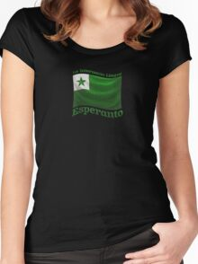 Esperanto Flag Women's Fitted Scoop T-Shirt