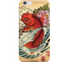 Koi with Peony iPhone Case/Skin