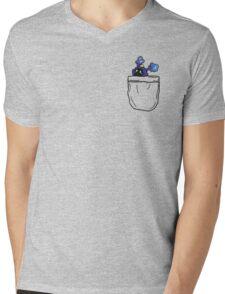 Nebby in pocket! (In) Mens V-Neck T-Shirt