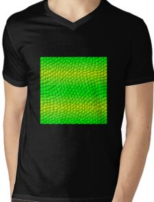 Scales Gradient - Green | Lime Yellow | Black Mens V-Neck T-Shirt