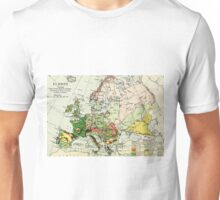 Old commercial map of Europe 1865 - 1907 Unisex T-Shirt